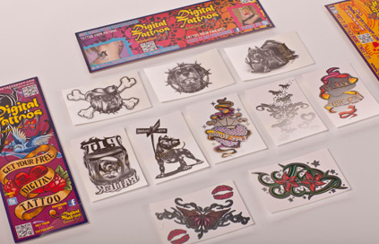 Novelty Vending and Temporary tattoos printing company