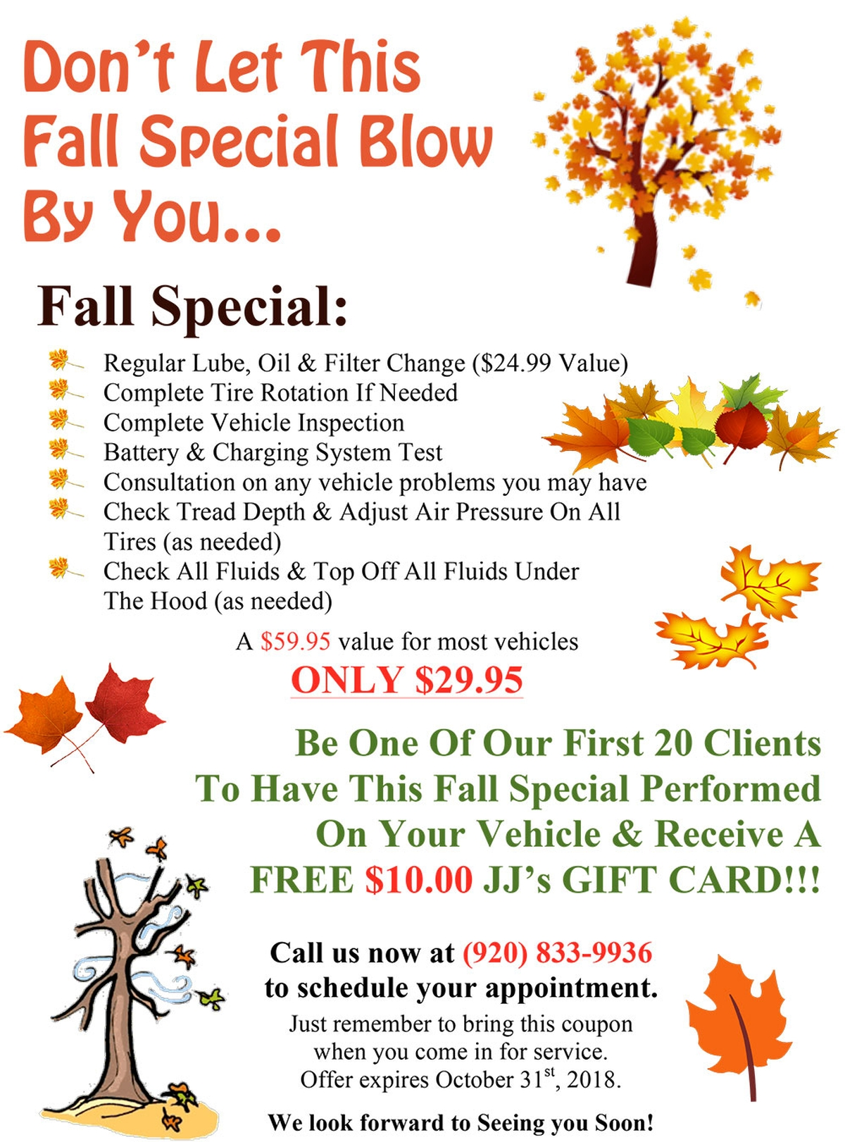 Don't Let This Fall Special Blow By You....