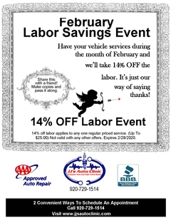 February Labor Savings Event